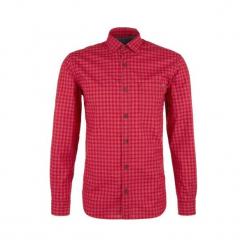 S.Oliver Koszula Męska M Czerwony. Szare koszule męskie na spinki marki S.Oliver, l, z bawełny, z włoskim kołnierzykiem, z długim rękawem. Za 119,00 zł.