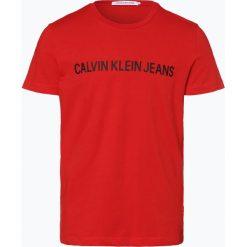 Calvin Klein Jeans - T-shirt męski, czerwony. Czarne t-shirty męskie z nadrukiem marki Calvin Klein Jeans, z bawełny. Za 129,95 zł.