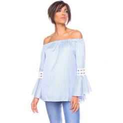 """Bluzki, topy, tuniki: Koszulka """"Elite"""" w kolorze błękitno-białym"""