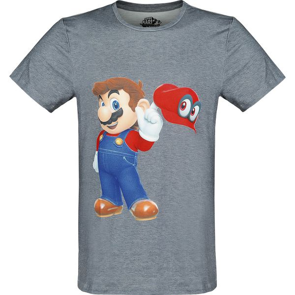 676c99d3be52e Super Mario Odyssey - Mario And Cappy T-Shirt wielokolorowy - Szare t-shirty  męskie Super Mario