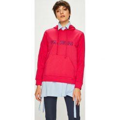 Trendyol - Bluza. Różowe bluzy z kapturem damskie marki Trendyol, l, z aplikacjami, z bawełny. Za 79,90 zł.