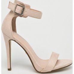 Answear - Sandały Ideal shoes. Szare rzymianki damskie ANSWEAR, z materiału, na obcasie. W wyprzedaży za 99,90 zł.