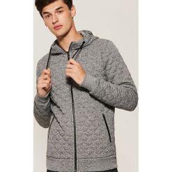 Pikowana bluza z kapturem - Szary. Czarne bluzy męskie rozpinane marki Reserved, l, z kapturem. Za 149,99 zł.