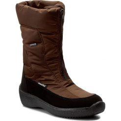 Śniegowce MANITU - 991119 Braun 2. Czerwone buty zimowe damskie marki Reserved, na niskim obcasie. W wyprzedaży za 249,00 zł.