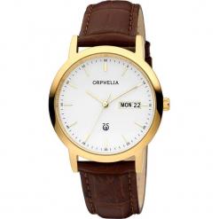 Zegarek kwarcowy w kolorze brązowo-biało-złotym. Brązowe, analogowe zegarki męskie Esprit Watches, ze stali. W wyprzedaży za 227,95 zł.