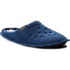 Kapcie CROCS - Classic Slipper 203600  Cerulean Blue/Oetmeal. Niebieskie kapcie męskie marki Crocs, z materiału. Za 129,00 zł.