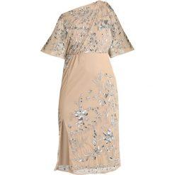 Maya Deluxe Sukienka koktajlowa nude. Szare sukienki koktajlowe Maya Deluxe, z materiału. Za 539,00 zł.