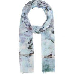 Szaliki damskie: Szal w kolorze błękitno-biało-antracytowym – 180 x 100 cm