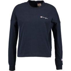 Champion Reverse Weave CROPPED Bluzka z długim rękawem dark blue. Niebieskie bluzki longsleeves Champion Reverse Weave, xl, z bawełny, długie. Za 229,00 zł.