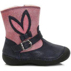 D-D-Step Dziewczęce Kozaki, 20, Różowe. Niebieskie kozaki dziewczęce marki Timberland, z gumy. Za 159,00 zł.