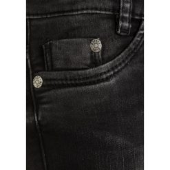 Jeansy męskie regular: Blue Effect BIKER Jeans Skinny Fit black denim