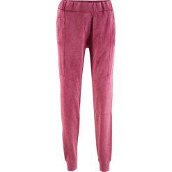 """Spodnie dresowe damskie: Spodnie dresowe """"used look"""" z kolekcji Maite Kelly bonprix czerwony rododendron"""