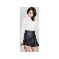 Spódnica K239 Czarny. Czarne minispódniczki Lenitif, s, rozkloszowane. Za 89,00 zł.