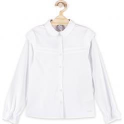 Bluzka. Białe bluzki dziewczęce bawełniane BACK TO SCHOOL GIRL, z falbankami. Za 59,90 zł.