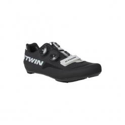 Buty na rower szosowy 700 AEROFIT. Czarne buty skate męskie B'TWIN, z poliamidu, na klamry, rowerowe. W wyprzedaży za 399,99 zł.