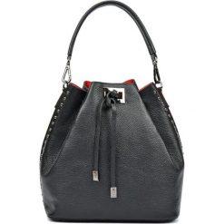 Torebki klasyczne damskie: Skórzana torebka w kolorze czarnym – (S)30,5 x (W)42 x (G)16 cm