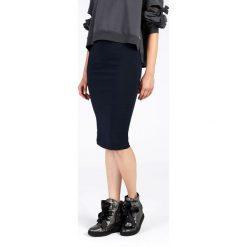 Spódnica - 10-5319 BL SC. Niebieskie spódniczki ołówkowe Unisono, l, z elastanu, midi. Za 55,00 zł.