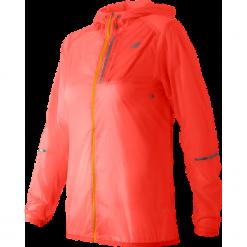 New Balance WJ61226DAF. Czerwone kurtki damskie do biegania marki New Balance, z materiału. Za 199,99 zł.
