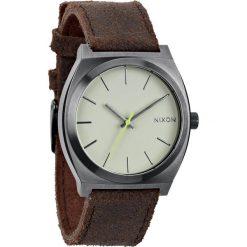 Biżuteria i zegarki damskie: Zegarek unisex Gunmetal Brown Nixon Time Teller A0451388