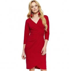 Makadamia Sukienka Damska 38 Czerwona. Czerwone sukienki Makadamia, z kopertowym dekoltem, kopertowe. Za 215,00 zł.