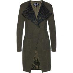Płaszcz bonprix zielono-szary. Szare płaszcze damskie bonprix. Za 219,99 zł.