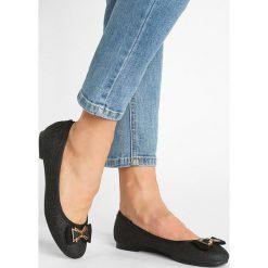 Baleriny damskie lakierowane: Head over Heels by Dune HAZE Baleriny black