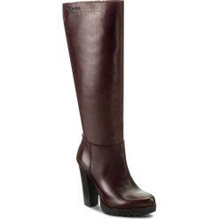 Kozaki EVA MINGE - Lupita 2T 17SM372227EF 134. Czerwone buty zimowe damskie marki Eva Minge, ze skóry, przed kolano, na wysokim obcasie, na obcasie. W wyprzedaży za 349,00 zł.