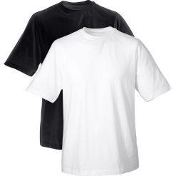 T-shirty męskie: T-shirt (2 szt. w opak.) bonprix biały + czarny