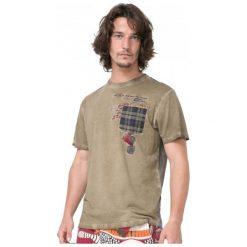 Desigual T-Shirt Męski Javi S Khaki. Brązowe t-shirty męskie marki Desigual, m. W wyprzedaży za 148,00 zł.