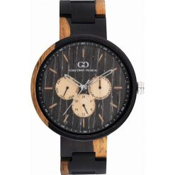 Zegarek Giacomo Design Drewniany męski GD08104. Czarne zegarki męskie Giacomo Design. Za 599,00 zł.