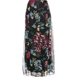 Spódnica szyfonowa z kwiatowym nadrukiem bonprix czarny z nadrukiem. Czarne długie spódnice bonprix, z nadrukiem, z szyfonu. Za 169,99 zł.