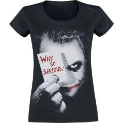 The Joker Why So Serious? Koszulka damska czarny. Czarne bluzki nietoperze The Joker, xl, z motywem z bajki. Za 74,90 zł.