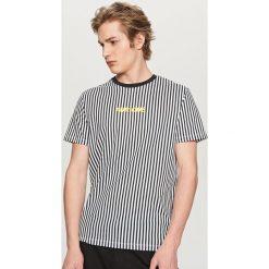 T-shirty męskie: T-shirt w paski – Jasny szar
