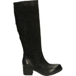 Buty zimowe damskie: Kozaki ocieplane - 560332 NERO