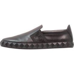 Derby męskie: Emporio Armani ASIAN SLIP ON Półbuty wsuwane black