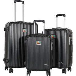 Walizki: Zestaw walizek w kolorze szarym – 3 szt.