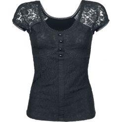 Gothicana by EMP Eternally Yours Koszulka damska czarny. Czarne bluzki ażurowe Gothicana by EMP, l, z koronki, eleganckie. Za 121,90 zł.