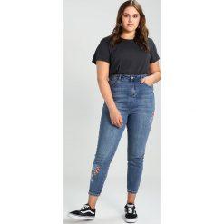 New Look Curves LEO EMBROIDERED SKINNY Jeans Skinny Fit dark blue. Niebieskie boyfriendy damskie New Look Curves. Za 149,00 zł.