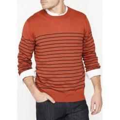 Kardigany męskie: Sweter z melanżowej wełny z okrągłym dekoltem
