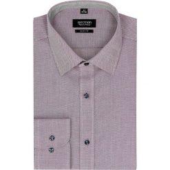 Koszula bexley 2449 długi rękaw slim fit róż. Fioletowe koszule męskie na spinki marki KIPSTA, m, z elastanu, z długim rękawem, na fitness i siłownię. Za 99,99 zł.