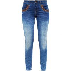 Mos Mosh Jeansy Slim Fit blue denim. Niebieskie boyfriendy damskie Mos Mosh. W wyprzedaży za 454,30 zł.