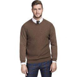 Sweter FREDERICO SWKR000185. Czarne swetry klasyczne męskie marki Giacomo Conti, m, z bawełny, z klasycznym kołnierzykiem. Za 219,00 zł.