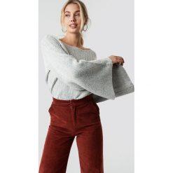 NA-KD Sweter z dużym rękawem - Grey. Szare swetry klasyczne damskie NA-KD, z dzianiny. Za 141,95 zł.