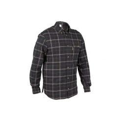 Koszula myśliwska 100. Brązowe koszule męskie na spinki marki SOLOGNAC, xl, z bawełny. Za 79,99 zł.