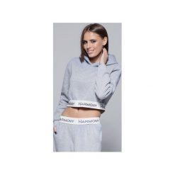Bluzy rozpinane damskie: Krótka bluza H001 szara