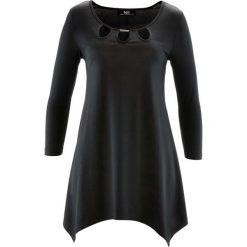 Tunika shirtowa, rękawy 3/4 bonprix czarny. Czarne tuniki damskie marki bonprix. Za 89,99 zł.