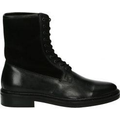 Botki męskie - MUS105 F-S BL. Czarne botki męskie marki Venezia, ze skóry. Za 329,00 zł.