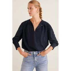 Mango - Bluzka Cashew. Szare bluzki z odkrytymi ramionami marki Mango, l, z materiału, z okrągłym kołnierzem. Za 119,90 zł.