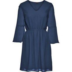 Sukienki: Sukienka szyfonowa bonprix ciemnoniebieski