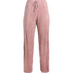 Spodnie z wysokim stanem: Missguided Petite PLISSE PLEATED WIDE LEG DRAWSTRING WAIST Spodnie materiałowe pink